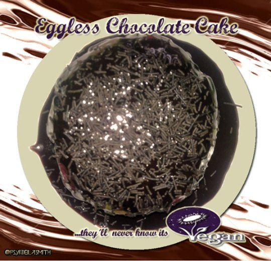 "<img src=""eggless-choc-cake.jpg"" alt=""eggless-chocolate-cake, they'll never know it's vegan!"">"